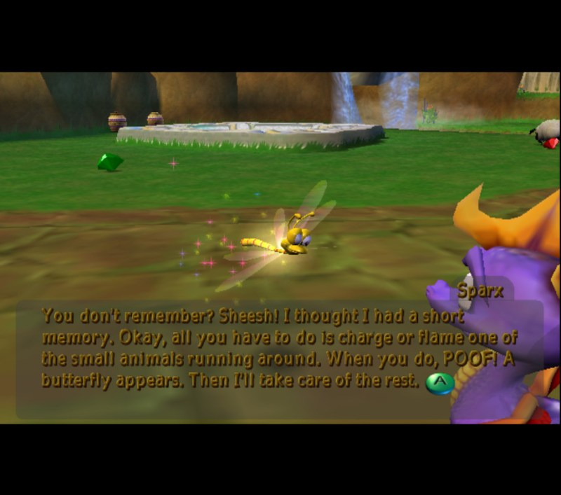 Spyro: Enter the Dragonfly gameplay Dragon Realms Sparx tutorial