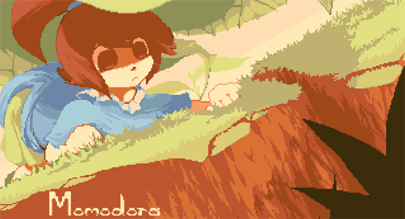Momodora I game title screen