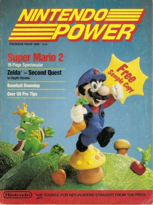 Nintendo Power magazine cover first issue July/August 1988