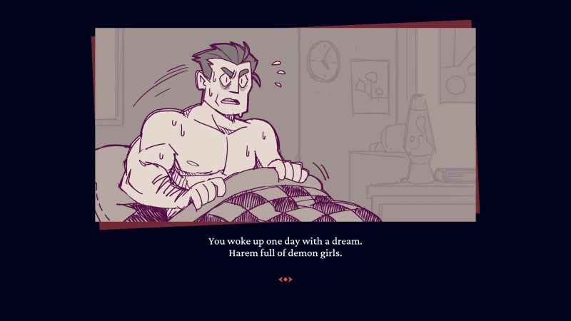 "Helltaker (Steam) game ""You woke up one day with a dream. Harem full of demon girls."""