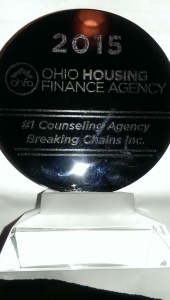 ohio housing finance agency top  award to breaking chains inc