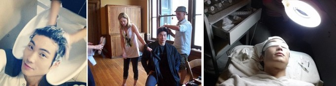 Hair treatments styling and facial model perks modeling life