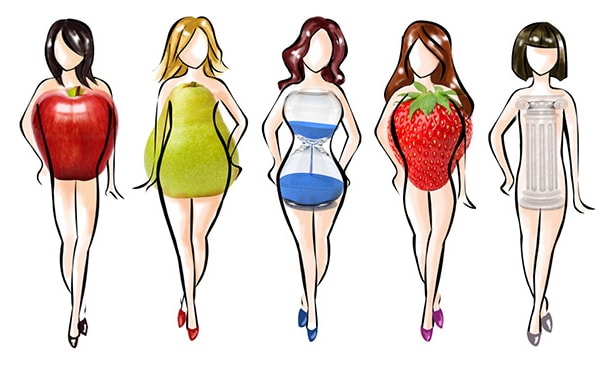 girls body type and shapes