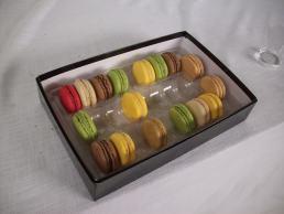 Real Macaron Cookies on set