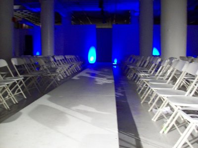 blue runway stage new york fashion week nyfw