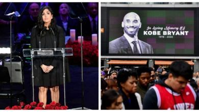 "Photo of ""Babe Take care of Our Gianna,"" Moving Tribute By Vanessa On Kobe's Memorial"
