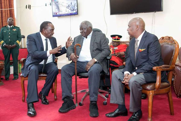 Former President Mwai Kibaki Hospitalized