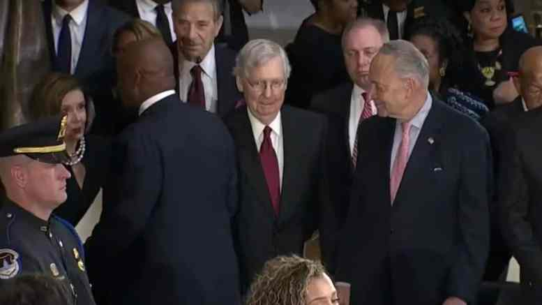 Mitch McConnell at Elijah Cummings Funeral