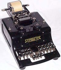 stenographer machine old style