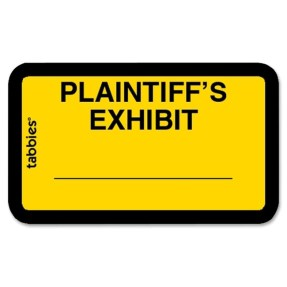 plaintiff's exhibit