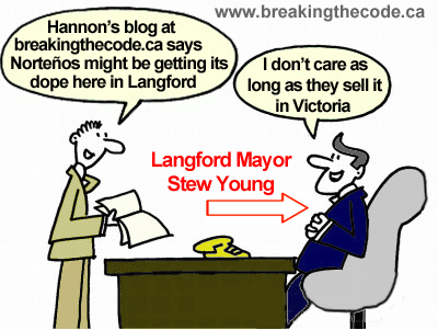 Hal Hannon cartoon of Stew Young