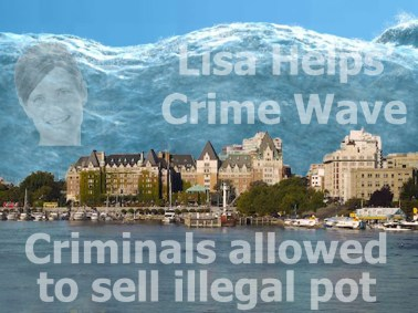 Victoria Pot Shop Crime Wave by Hal Hannon