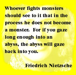 Nietzshe quote about the abyss