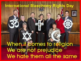 Victoria City Council Picture with National Blasphemy Day Captiom