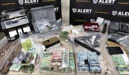 Seized money, drugs and guns