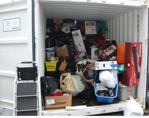 trailer full of stolen goods