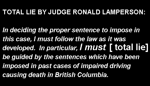 Statement of Judge Lamperson in the trial of Kenneth Fenton for killing Cst. Sarah Beckett