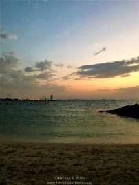 After the sunset - Burj al arab in view