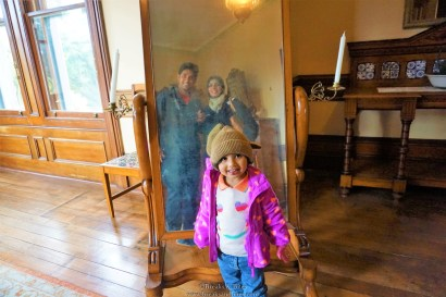 We posing in the tall mirror which is a part of Master Bedroom