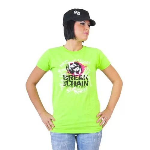 Break the Chain's Logo Lime Green T-Shirt and Military Hat