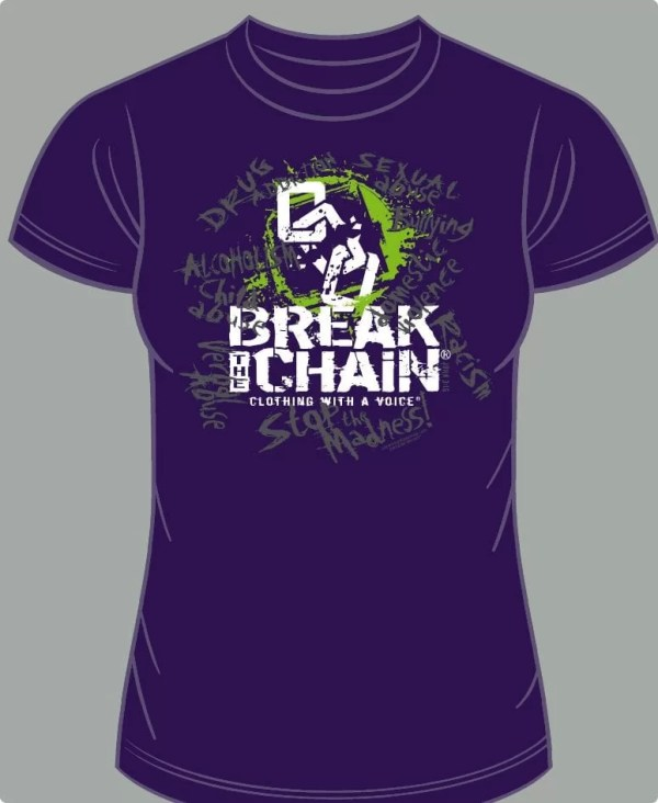Break the Chain's Logo Purple T-Shirt