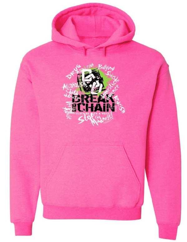 Break the Chain's Logo Pink Hoodie