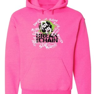 Break the Chain's Logo Pink Hoodie