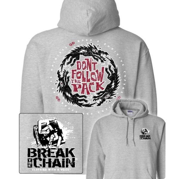 Break the Chain's Don't Follow the Pack Grey Hoodie