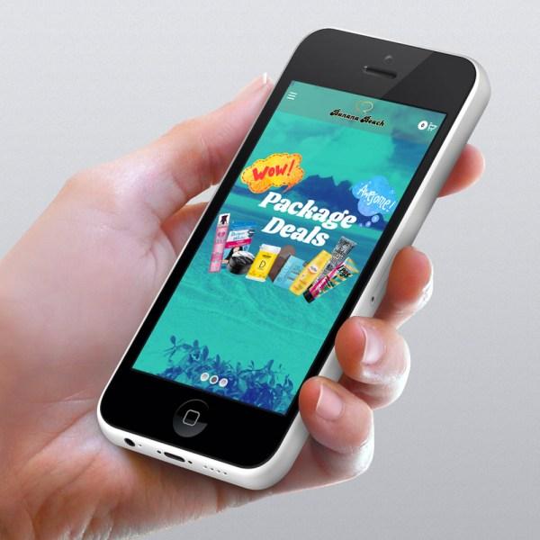 banana beach direct ecommerce website design