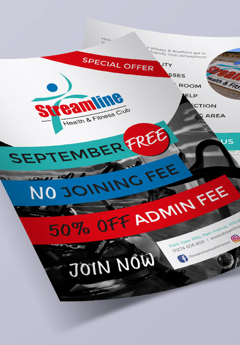 streamline fitness flyer and website design client
