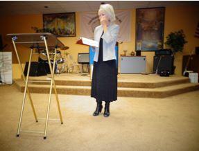 Pastor Alana Randall preaching