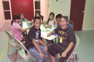 Kids participating in Kids' Night Out