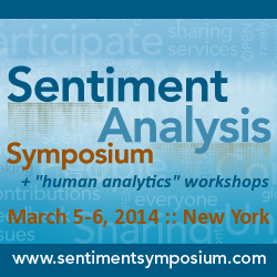Sentiment Analysis Symposium, March 5-6, 2014, New York