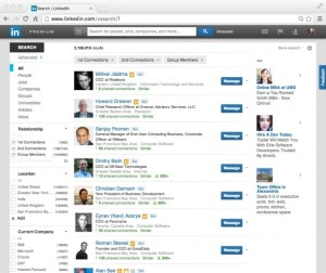 LinkedIn Search Results