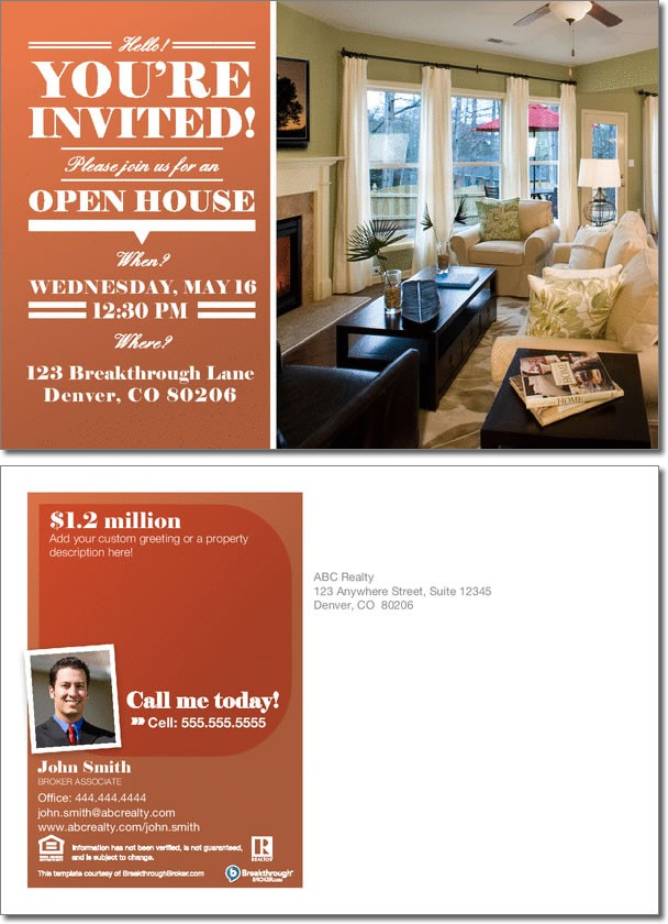 Agent Open House Template