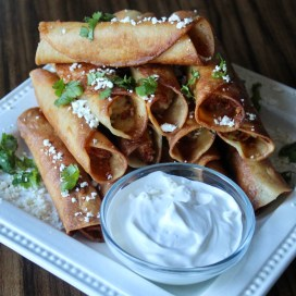 Mexican Shredded Chicken Taquitos