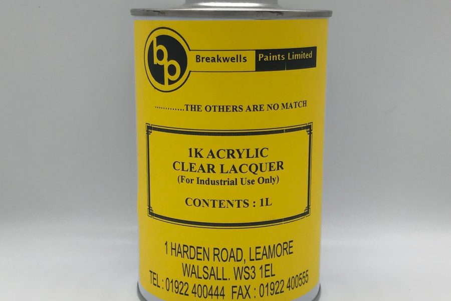 1k acrylic clear RFU lacquer