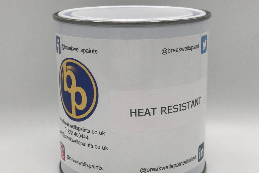 Heat resistant matt black paint