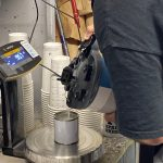 Weighing the Paint Tinters