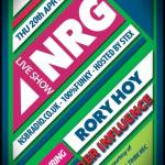 Rory Hoy & Under Influence – Guest Mixes For NRG Radio Show – 20.4.2017