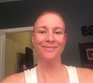 Me with no hair!