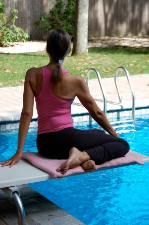 Beginner's Twisting Yoga Pose For Breast Cancer