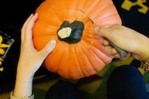 Making A Pumpkin Planter For Breast Cancer Healing Garden