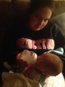 One of our late night pumping/bottle feeding sessions