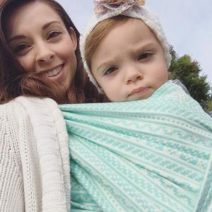 Us in our PoppyBaby Somogy woven wrap. One of my favorites in our stash!