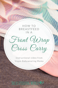 Sam REddy, Wrapsody Brand Ambassador and Portland Area Babywearing Educator, simple video tutorial on how to breastfeed using a front wrap cross carry,