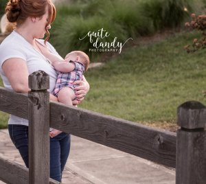 Indianapolis photographer, spring photo, breastfeeding photo, bridge, baby, breastfeeding photography