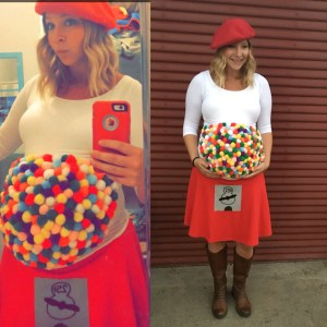 You need these halloween costumes for pregnant moms in your life, most of these look like awesome last minute costumes, therye totally perfect. Halloween for moms, mom costumes, pregnancy costume ideas, pregnant halloween, gumball halloween costume, gum, cute halloween costumes for pregnant moms, maternity costumes for halloween, halloween costume hacks, easy halloween costumes for prengancy, last minute halloween costumes for expectant mothers