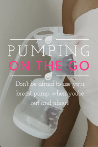 breast pump on the go