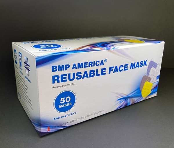 BMP America® Reusable Adult Face Mask - Box of 50 Masks